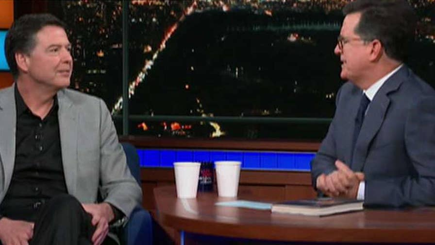 Former FBI director speaks out 'The Late Show with Stephen Colbert.'