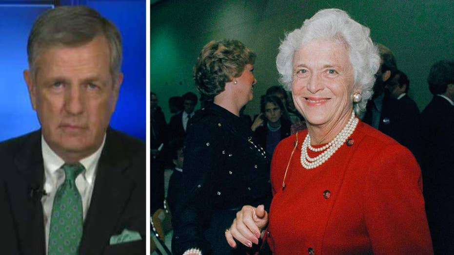 Hume: Barbara Bush was person of 'enormous character'