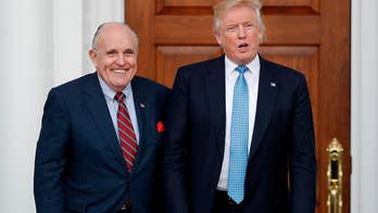 Deputy attorney general tells President Trump that he is not a target in probe of attorney Cohen; former NYC mayor Giuliani joins president's legal team. Chief White House correspondent John Roberts reports from West Palm Beach, Florida.