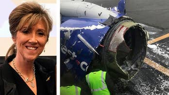 Pilot Tammie Jo Shults, who was previously a Navy fighter pilot, had to make an emergency landing after an engine explosion; Linda Maloney, a friend and former combat pilot, shares details on 'The Story.'