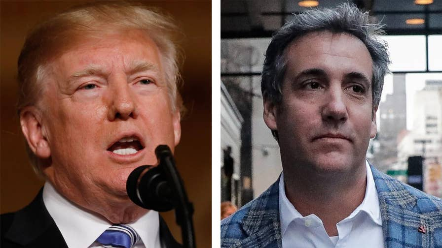 Report: Deputy Attorney General Rod Rosenstein told President Trump last week that he is not a target of the Michael Cohen investigation; reaction and analysis on 'The Five.'