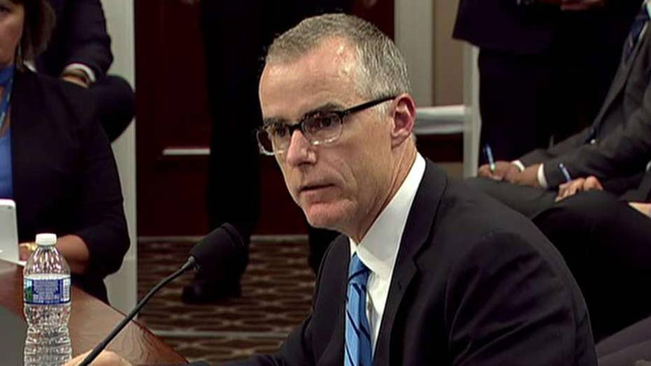 DOJ inspector general recommends criminal charges for McCabe