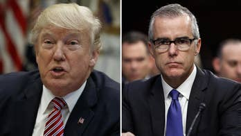 Deputy Attorney General Rod Rosenstein told President Trump last week that he is not a target in the Michael Cohen investigation as DOJ watchdog sends criminal referral for former FBI Deputy Director Andrew McCabe.