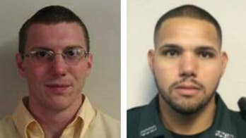 The two were shot at through the window of a restaurant. The suspect was found dead when fellow deputies arrived on scene.