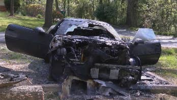 Car owner Seth Headley says the suspect, wearing a bulletproof vest with a gun on his hip, walked up to his car and set it on fire.