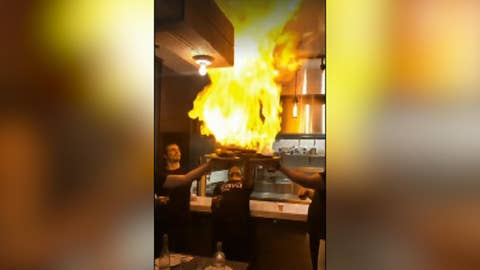 Flaming dish gives mouthwatering a new meaning