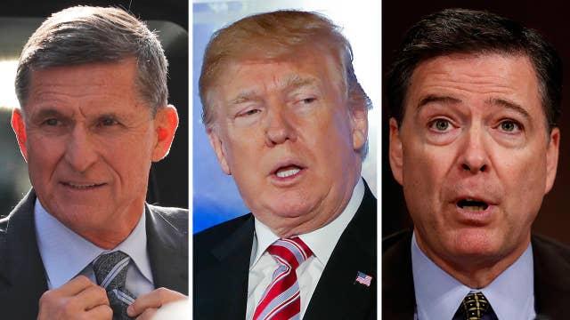 Trump defends Flynn, slams Comey on Twitter