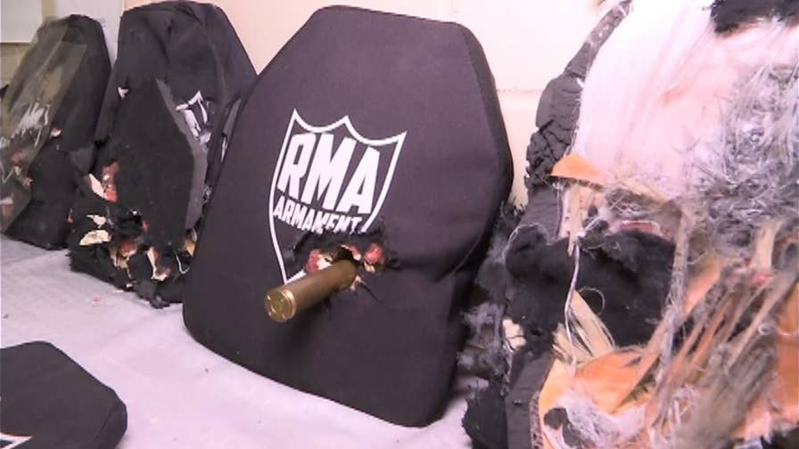 Strong enough to withstand multiple bullet rounds, RMA Armament's unique body armor vest is helping to protect police and the military around the globe.  FOX News' Todd Piro gets a first-hand look at the bullet-proof vest and what makes it so special.