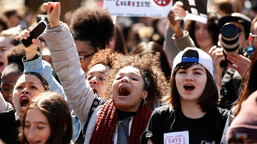 19 years after Columbine's high school shooting and just a few months since Parkland, Florida's tragedy, thousands of students nationwide walked out of school to demand action on gun reform. Take a look at the demonstrations from around the country.