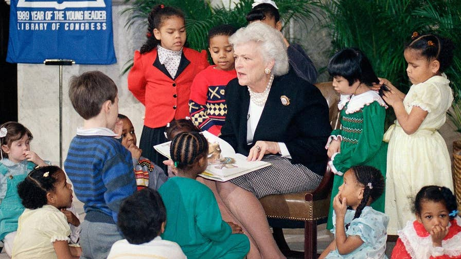 Visitors of the George H.W. Bush Presidential Library and Museum left children's books in honor of Mrs. Bush's work in literacy.
