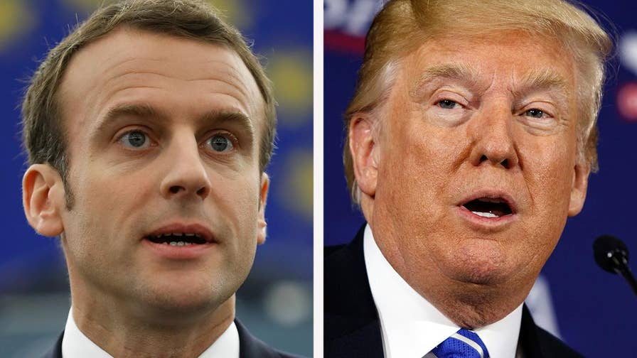 The French president sits down exclusively with 'Fox News Sunday' anchor Chris Wallace on the eve of his three-day state visit to Washington.
