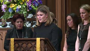 At Barbara Bush's funeral, the former first lady's granddaughters read from Proverbs.