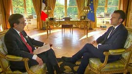 "French President Emmanuel Macron insisted Sunday that he has a solid relationship with President Trump, ahead of his Washington visit this week, but also appeared to caution the president about his aggressive stances on Iran, climate change and international trade, in an exclusive ""Fox News Sunday"" interview."
