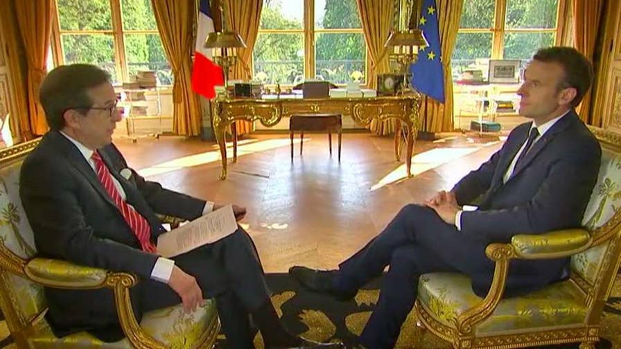 On the eve of his three-day state visit to Washington, Emmanuel Macron sits down with 'Fox News Sunday' anchor Chris Wallace for an exclusive interview.