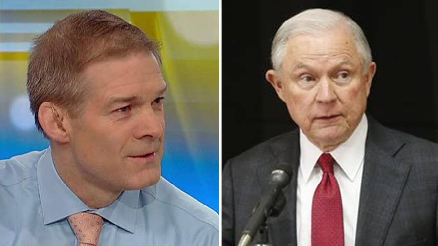 Rep. Jim Jordan discusses James Comey's memos, getting information from the Justice Department and plans to send a letter to Attorney General Sessions regarding the Cohen raid.