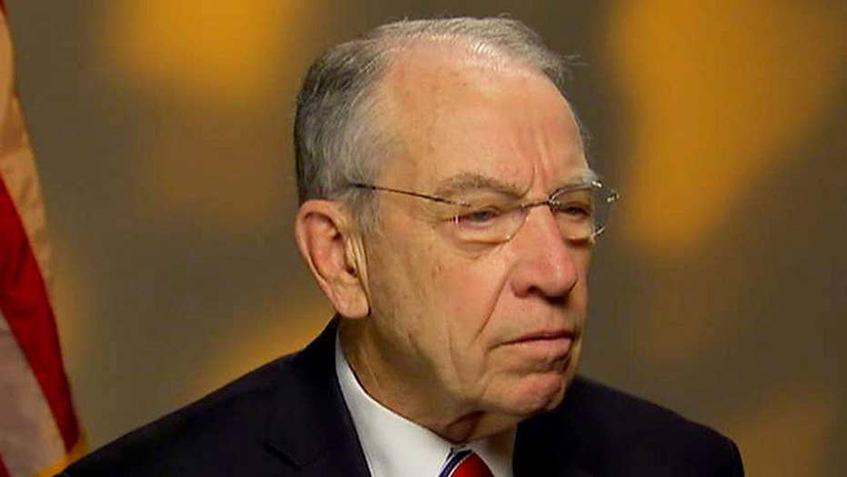 Sen. Grassley talks confidence in the Justice Department