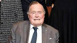 Former President George H.W. Bush was hospitalized on Sunday -- one day after the funeral for his wife, former first lady Barbara Bush -- after an infection he contracted spread to his blood, his spokesman said Monday.