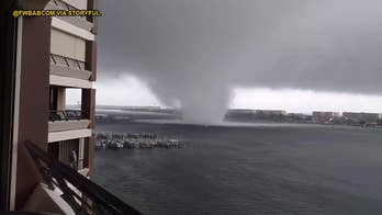 Check out this dramatic video as a waterspout roars ashore on Okaloosa Island and Fort Walton Beach, Florida, heavily damaging at least one home, downing trees and power lines and tossing vehicles.