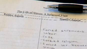 Texas teacher placed on leave while school investigates assignment given out at a charter school in San Antonio which instructed students to list of the negative and positive aspects of slavery.