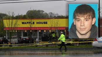 Nashville Travis Reinking is accused of killing four people at a Waffle House restaurant in Tennessee; Jonathan Serrie reports from Antioch, Tennessee.