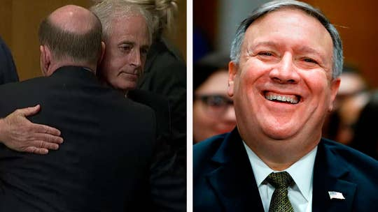 Democratic senator changes his vote to 'present,' sending Mike Pompeo's nomination to be secretary of state to the full Senate; Fox News senior judicial analyst Brit Hume weighs in on the clash over President Trump's pick to be the nation's top diplomat.