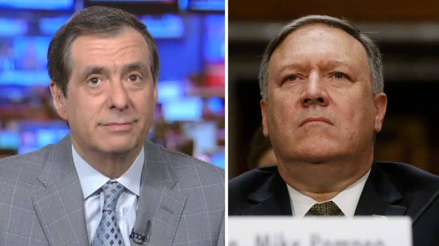 'MediaBuzz' host Howard Kurtz weighs in on the partisan politics by Democrats to vote against confirming CIA director Mike Pompeo as the next secretary of state to spite President Trump.