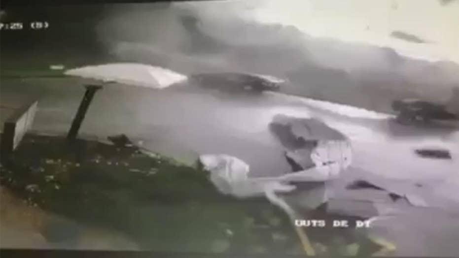 Tornado rips through Sonic drive-thru in Louisiana