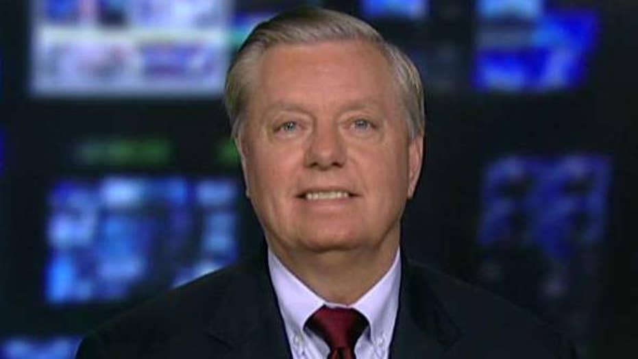 Sen. Graham on French President's views on taxes, Iran deal