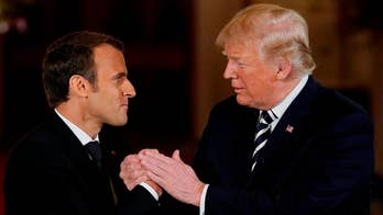 President Trump welcomes French President Emmanuel Macron to Washington for his first official state visit; chief White House correspondent John Roberts reports.