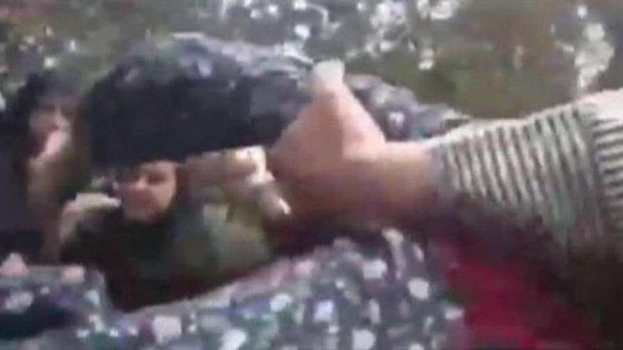 Raw video: Iran morality police assault woman over loose fitting hijab that only partially covered her hair.