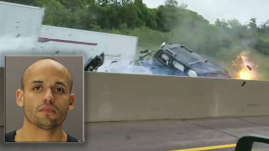 Driver of vehicle going wrong way on Interstate 20, identified as Guillermo Suarez, charged with driving while intoxicated and intoxication manslaughter with a vehicle for crash that left a young mother dead in Texas.