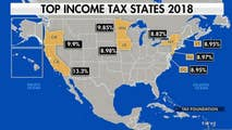 Liberal policies forcing more people to move out of high-tax states. John Tamny discusses the great tax migration.