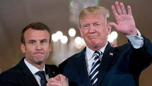 French President Emmanuel Macron is working to change President Trump's mind regarding the Iran deal; Kevin Corke reports from the White House.