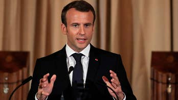 President Trump and French President Emmanuel Macron tout strong relationship during state visit; congressional correspondent Mike Emanuel reports from Washington.