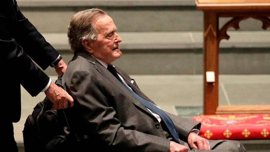 Hospitalized for a blood infection, former President George H.W. Bush has been moved out of intensive care to complete his recovery.