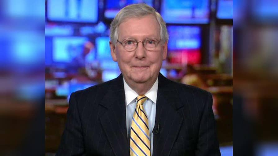 Senate Majority Leader Mitch McConnell discusses confirmation battles that face Trump's nominees and 2018 Senate races on 'The Story.'
