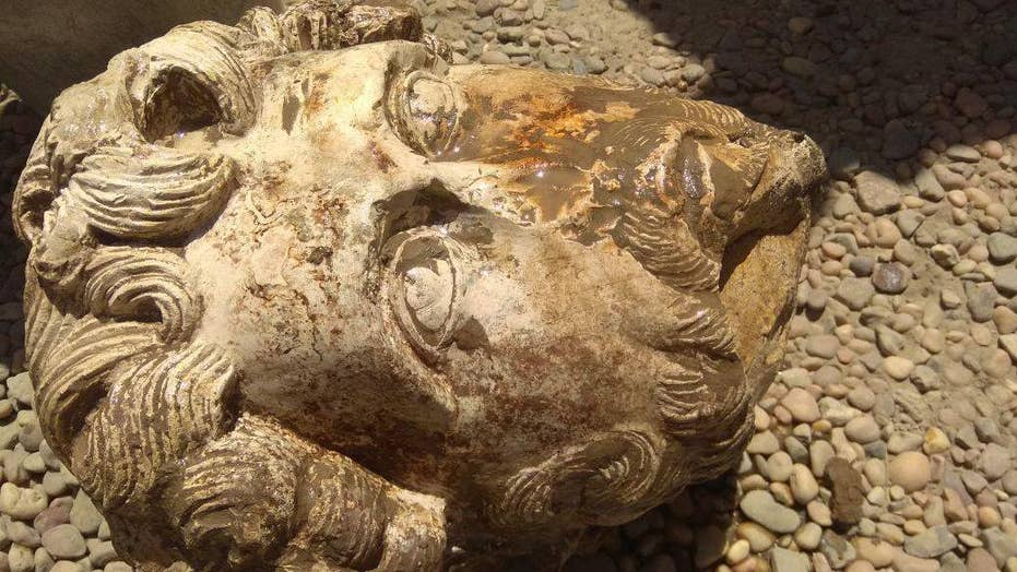 Rare Roman Discovery Thrills Experts Emperors Marble Head Found At