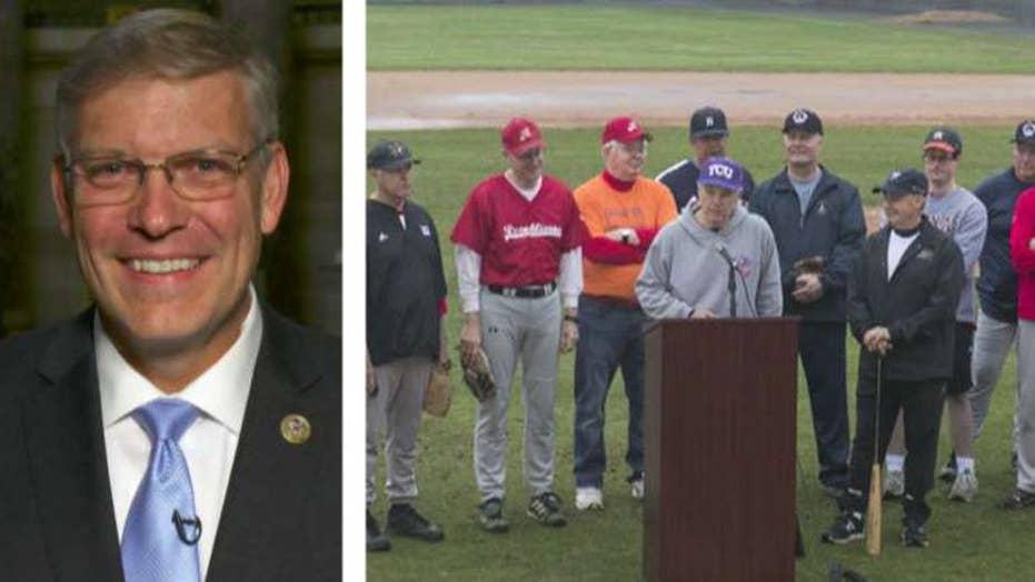 Rep. Loudermilk on emotional start to GOP baseball practice