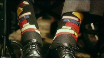 George H.W. Bush wore a pair of special book socks to former first lady Barbara Bush's funeral. The 'chief happiness officer' of John's Crazy Socks, John Cronin, discusses the business on 'The Story.'