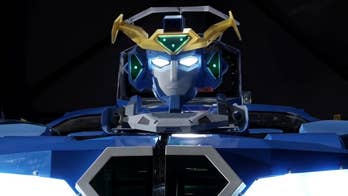 Japanese company Brave Robotics unveiled a 'Transformers'-like robot that can transform from a 12-foot tall humanoid into a two-person car.