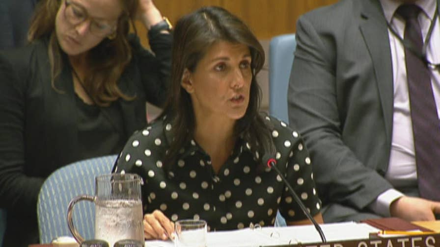 Raw video: U.S. Ambassador to the United Nations Nikki Haley addresses the UN Security Council.