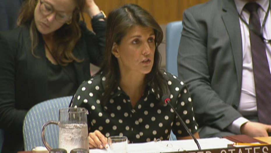 Haley hits Iran for supporting groups that use human shields