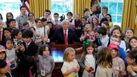 "President Trump appeared to seize the moment a bit on Thursday, taking jabs at some of the press corps members whose kids joined them at the White House for ""Take Your Kids to Work Day."""