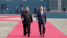 North Korean leader Kim Jong Un crossed the border into South Korea on Friday and has started talks on nuclear weapons with President Moon Jae-in for an historic summit.