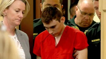 The accused Parkland, Florida school shooter is in court for a hearing to determine his trial start date; Phil Keating reports from the Broward County Courthouse in Fort Lauderdale, Florida.
