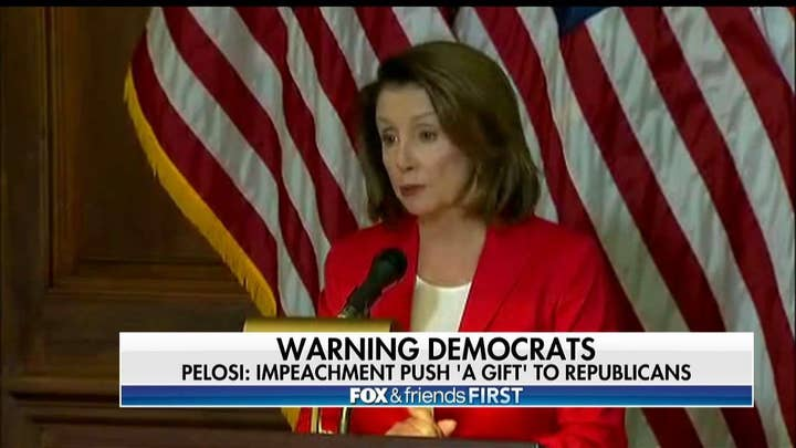 Pelosi Warns Democrats: Trump Impeachment Talk Is a 'Gift' to GOP