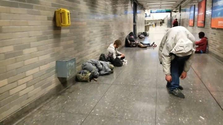 Shocking video: Junkies shoot up in San Francisco station