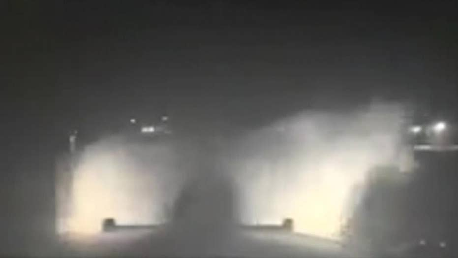 Dashcam video shows Texas officer chased by cow