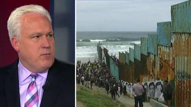 Matt Schlapp reacts as migrant caravan arrives at US border