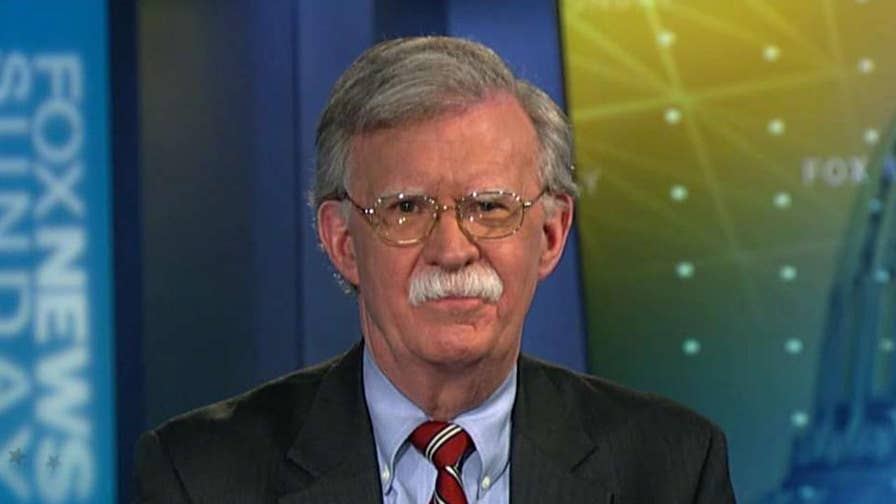 National security adviser John Bolton details the Trump administration's strategy on 'Fox News Sunday.'